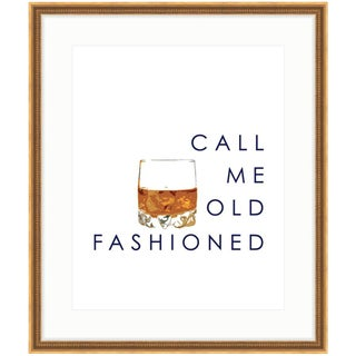 Call Me Old Fashioned Framed Bourbon Print