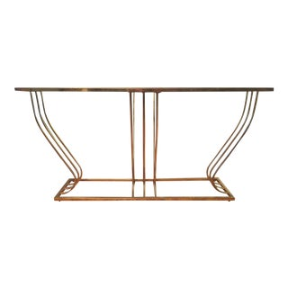 Vintage Sculptural Brass Finished Console Table Base