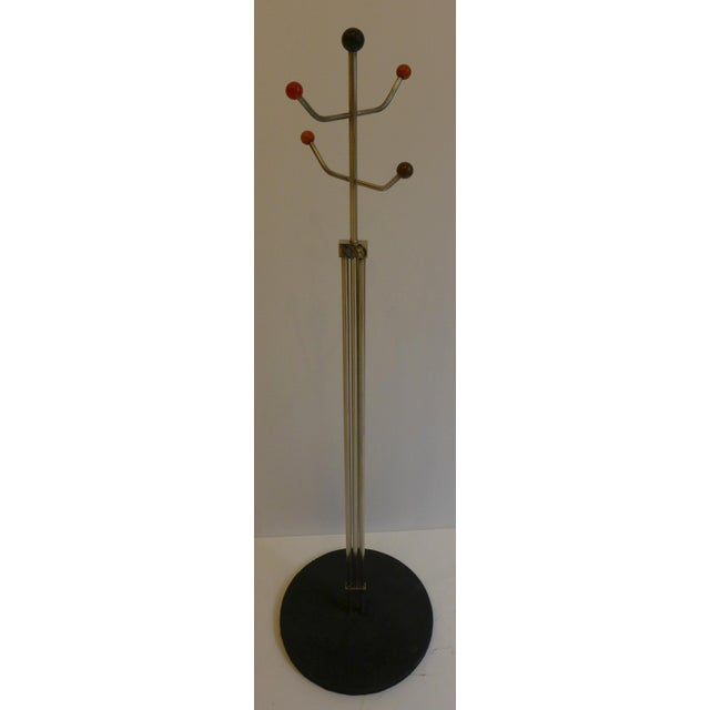 Slender Machine Age Hat Rack or Coat Rack - Image 3 of 10