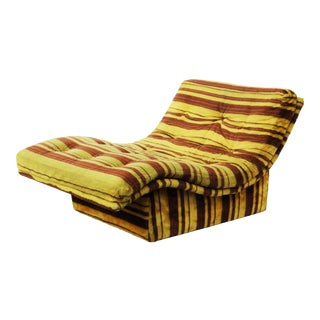 Furry 1970s Chaise Lounge