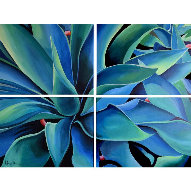 Silver Blue Agave Painting - Image 2 of 8