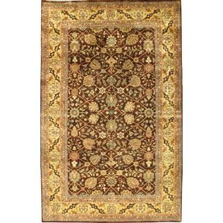 Pasargad N Y Indo Tabriz Hajjalili Design Wool Pile Rug - 5' X 8'