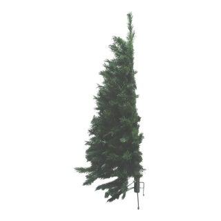 Vintage Green Four Foot Half Wall Pine Tree