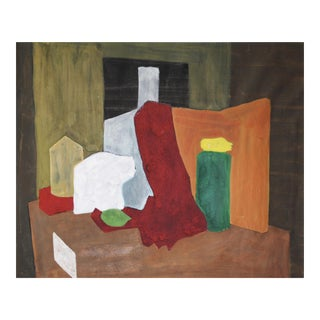 Mid-Century Cubist Abstract Painting