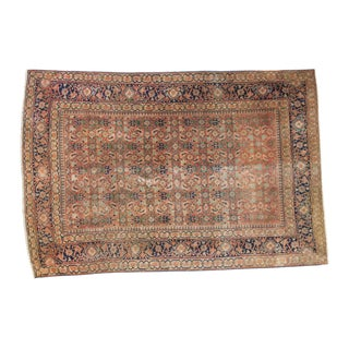 "Antique Tabriz Rug - 4'3"" X 6'3"""