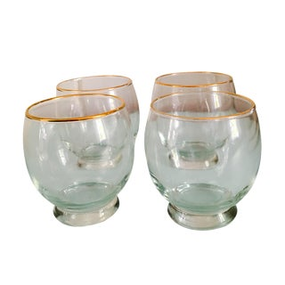 Vintage Hand Blown Wine Glasses - Set of 6