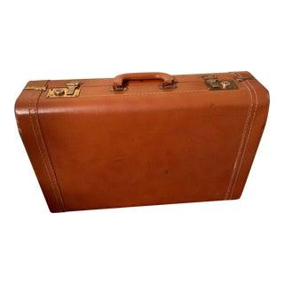 Vintage Cognac Leather Suitcase