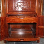 Image of Reproduction Asian Carved Wood Bar