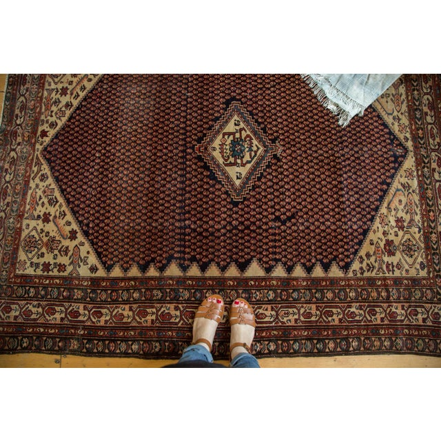 """Vintage Mission Malayer Square Rug - 5'5"""" x 6'7"""" - Image 2 of 10"""