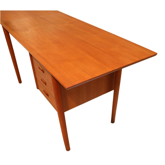 Arne Vodder Mid-Century Danish Teak Drop Leaf Desk - Image 3 of 10