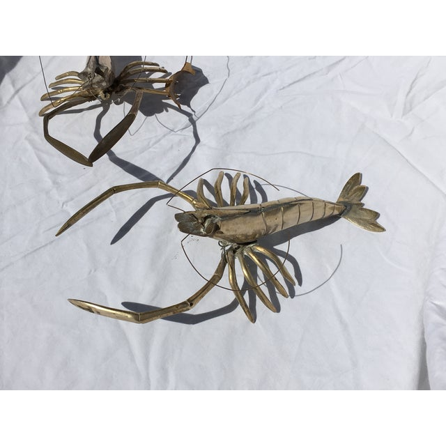 Brass Lobsters - Pair - Image 3 of 6