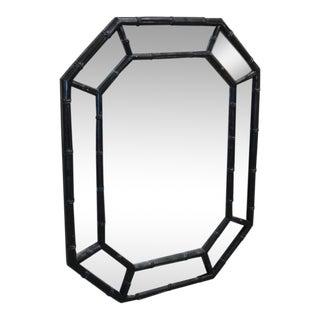 Faux Bamboo Octagon Mirror