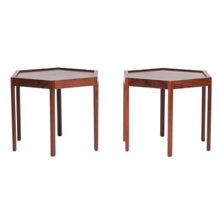 Hans Anderson for Artex Octagonal Side Tables- A Pair