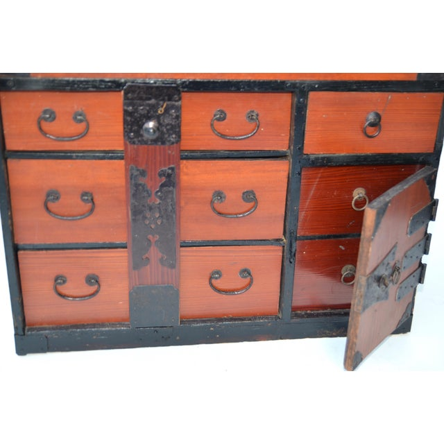 Antique Japanese Lacquered Small Tansu Chest - Image 6 of 6