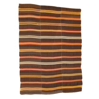 "Antique Stripe Jajim Blanket Rug - 6'8"" x 4'11"""