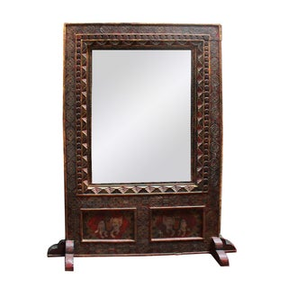 Original Painted Panel With Mirror