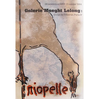 1983 Original Exhibition Poster, Riopelle - Galerie Maeght Lelong
