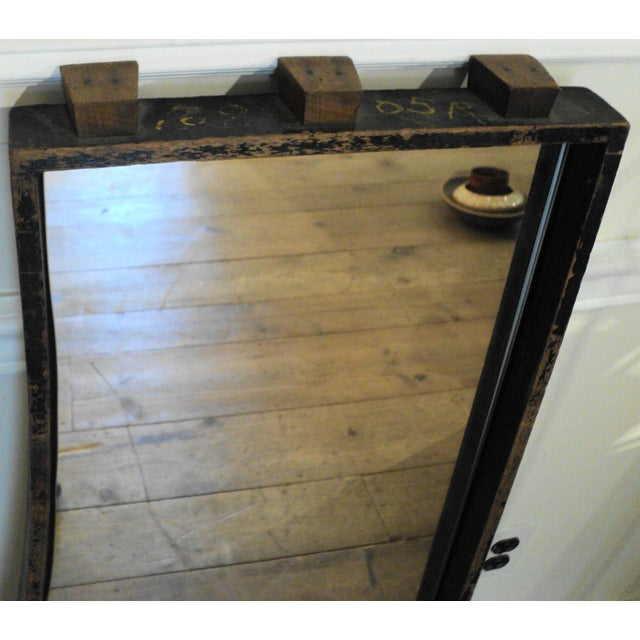 Antique Vintage Industrial Wood Factory Mold Mirrors - A Pair - Image 6 of 11
