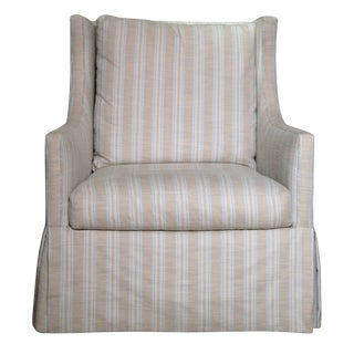 Lee Industries Striped Swivel Chair