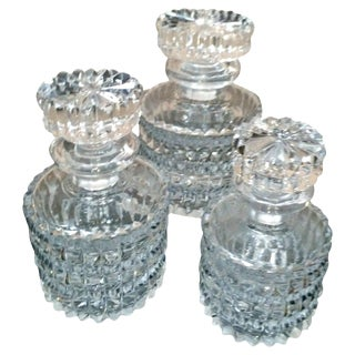 Small Decorative Crystal Decanters - Set of 3