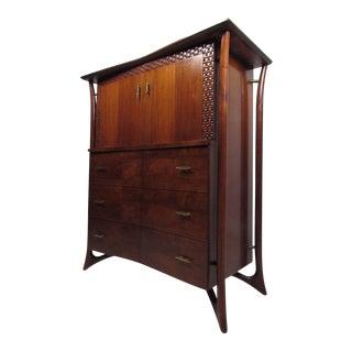 Stylish Vintage Modern Highboy Dresser