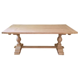 Chaddock-Milton Double Pedestal Trestle Table