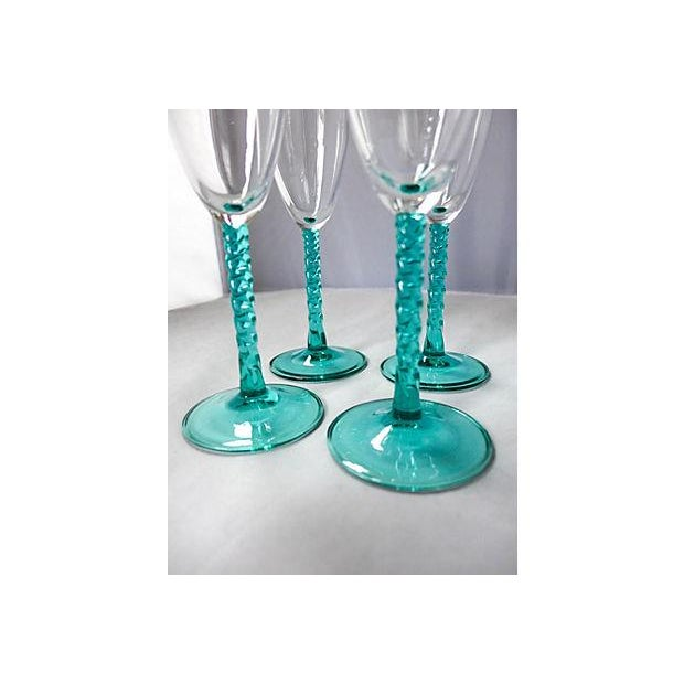 Blue Stem Champagnes Glasses - Set of 4 - Image 3 of 7