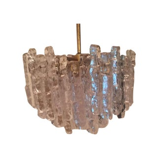 Vintage Kalmar Ice Block Chandelier