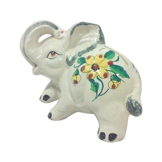 Italian Ceramic Elephant Coin Bank