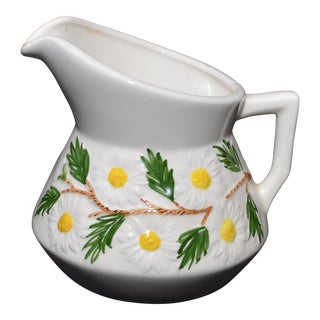 1971 Hand Painted Daisy Milk Pitcher