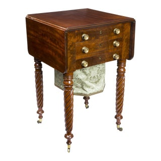 Classical Mahogany 3-Drawer Worktable