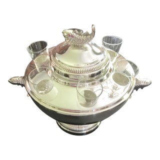 Silver Caviar & Vodka Server