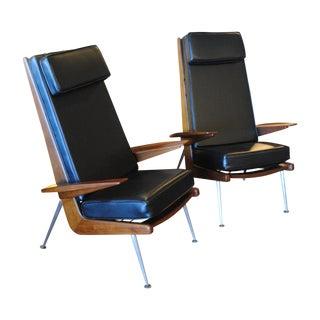 Boomerang Lounge Chairs - Pair