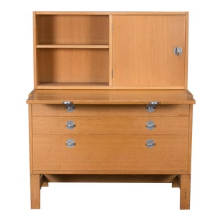 Danish Modern Oak Bookcase Unit and Chest