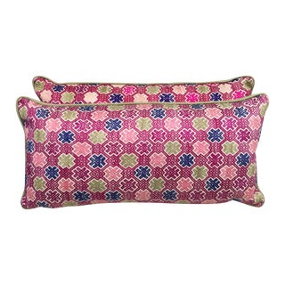 Hmong Tribal Vibrant Colored Pillows - Pair