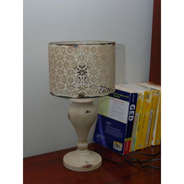Cream Metal Nostalgia Lamp - Image 3 of 5