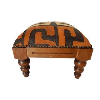 Boho Kuba Cloth & Wood Footstool