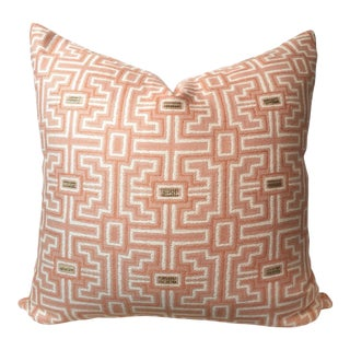 Designer Geometric Blush Pillow Cover