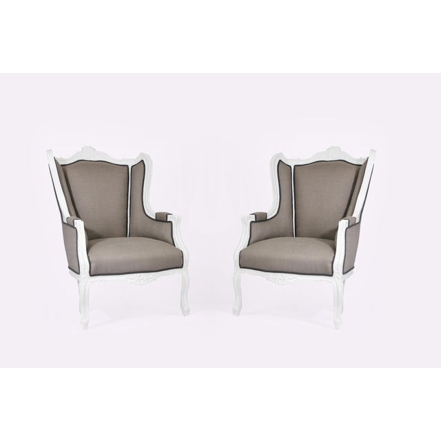 Image of Antique Wingback Chairs - Pair