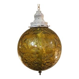 Mid-Century Modern Amber Glass Pendant