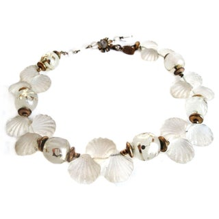 Vintage Miriam Haskell Seashell Choker Necklace