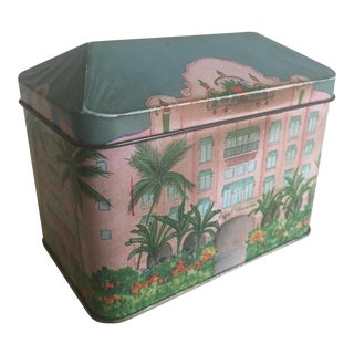 Vintage Hawaiian Hotel Metal Tea Tin Box