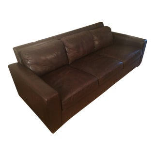 Design Within Reach Portola Leather Sofa