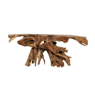 A Teak Root Wooden Console Table