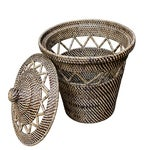 Image of Rattan Basket with Open Weave Design
