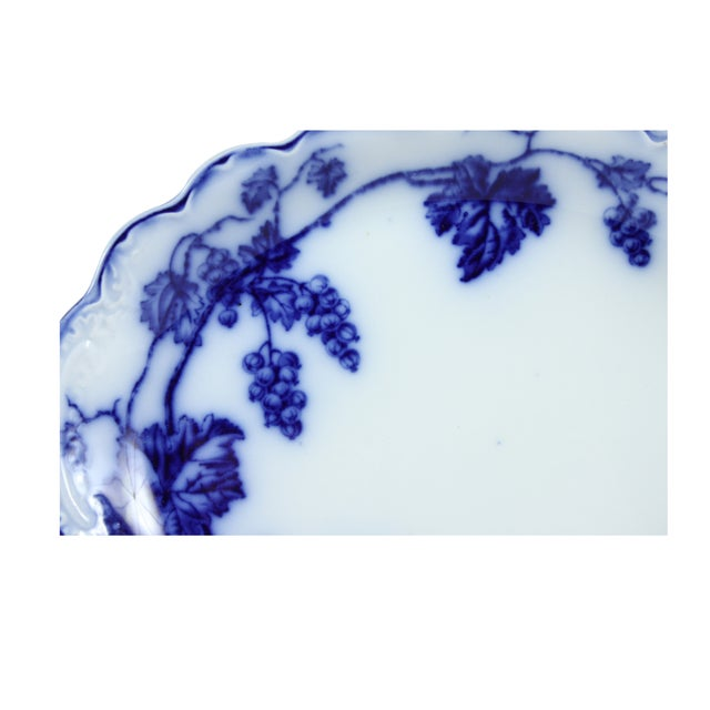Image of Flow Blue Warwick Bowl & Tray by Johnson Brothers