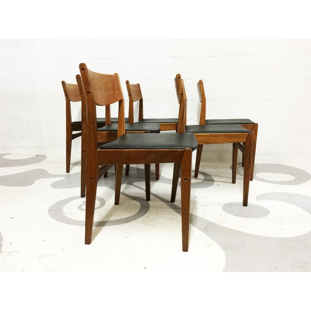 Mid-Century Poul Volther Teak Chairs - Set of 6 - Image 6 of 6