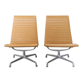 Pair of Vintage Herman Miller Aluminum Group Lounge Chairs, Mid-Century Modern