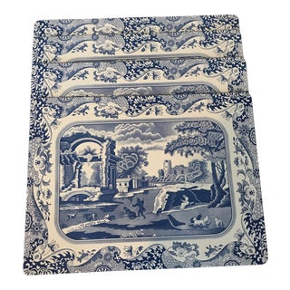 Spode Italian Blue Pimpernel Cork Placemats - Set of 4