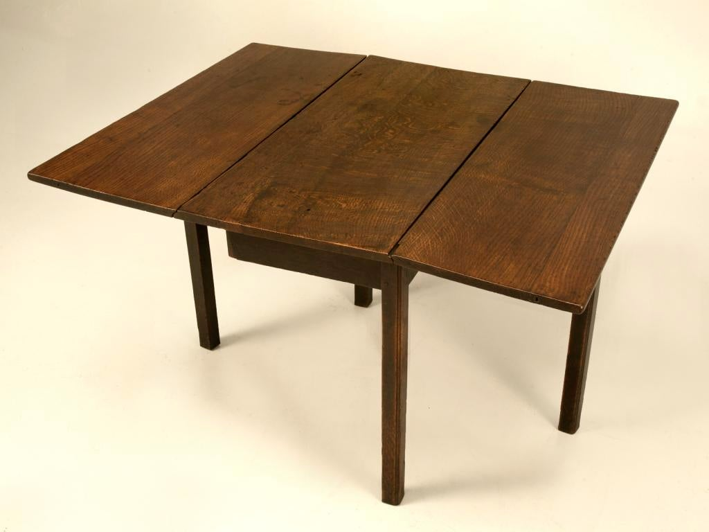 Antique Rustic U0026 Primitive English Oak Gate Leg Table   Image 2 Of 10